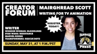 Fanbase Press Announces Upcoming 'Creator Forum' Online Seminar for Indie Creators with 'Writing for TV Animation' with Mairghread Scott