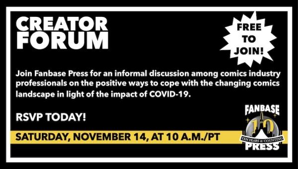 Join Fanbase Press for the 'Creator Forum: Group Discussion' on November 14 to Discuss Positive Ways to Navigate the Changing Comics Landscape