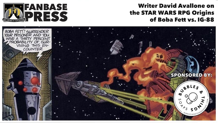 Fanbase Feature: An EXCLUSIVE Interview with Writer David Avallone on the 'Star Wars' RPG Origins of Boba Fett vs. IG-88